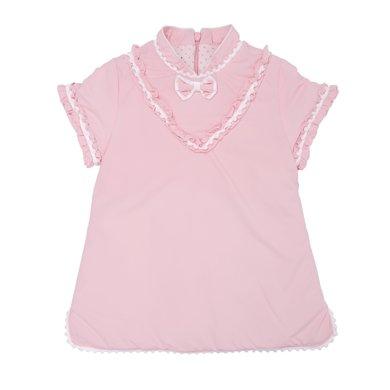 丑丑嬰幼 女寶寶連衣棉裙冬季女童甜美公主背心棉裙1-4歲 CKE365W
