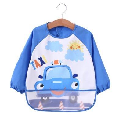 爸媽親兒童反穿衣嬰幼兒吃飯衣圍兜兒童罩衣防水寶寶吃飯飯兜長袖88106