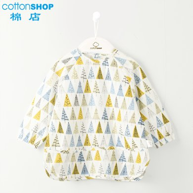 【Cottonshop棉店】秋季上新 純棉寶寶吃飯圍兜罩衣男女孩兒童畫畫圍裙護衣防水反穿衣