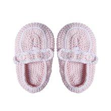 g100寄意百婴儿针织手工编织鞋子男童女童毛线休闲鞋宝宝软底鞋子