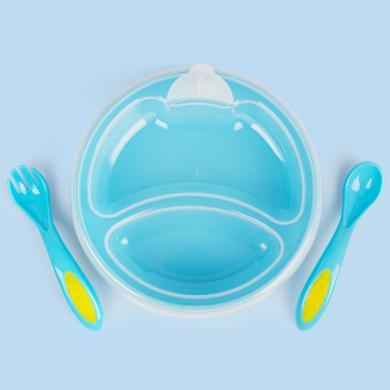 MDB嬰幼兒注水保溫餐盤套裝兒童防燙分隔防摔碗寶寶便攜輔食餐具 MDB-CPC