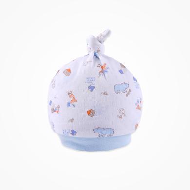 丑丑嬰幼 新款男女寶寶帽子新生兒圓頂寶寶胎帽0-6個月28*17CM  CNA505X