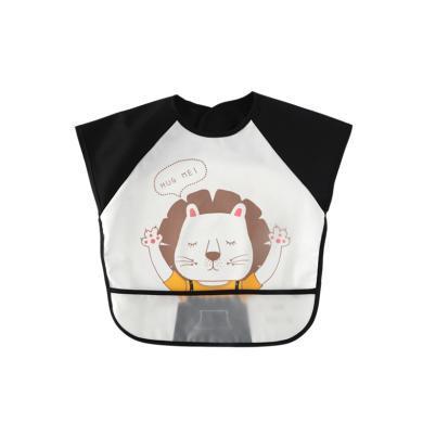 爸妈亲宝宝吃饭罩衣围兜婴幼儿吃饭围裙儿童防水反穿衣短袖夏围嘴86616