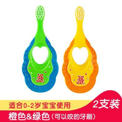 mdb嬰幼兒童寶寶軟毛牙刷0-1-2-3-4-5-6歲訓練護齒乳牙牙刷小孩-MDB-YQ 包郵