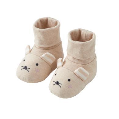 威爾貝魯 嬰兒腳套秋冬棉毛布夾棉造型腳包