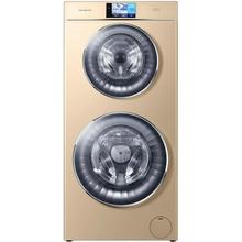 卡薩帝(Casarte) 12公斤 全自動滾筒洗衣機 雙子云裳雙筒洗 C8 HU12G1 【彩屏+洗烘一體】