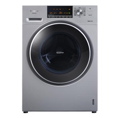 松下(Panasonic)9公斤變頻滾筒洗衣機 95度高溫洗 泡沫凈 羽絨羊毛洗 超大容量XQG90-E59L2H銀色