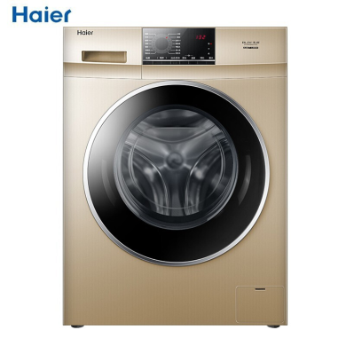 Haier/海尔洗洗衣机滚筒 10公斤大容量 变频节能 全自动 家用滚筒洗衣机 G100818BG