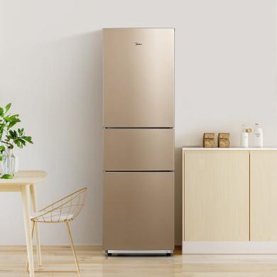 美的 (Midea) 冰箱 小型三门冰箱双开门小冰箱 节能静音电冰箱BCD-210TM(E) 19年新款