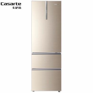 卡薩帝冰箱BCD-360WDCL變頻 風冷無霜 干濕分儲電冰箱360升金色