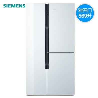 西�T子(SIEMENS)�冰箱 KA96FS70TI 569立升 �化玻璃 多�T冰箱 ��l冰箱 零度�o霜保�r多�T���_�T冰箱