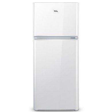 TCL 118升 小型双门电冰箱 LED照明 迷你节能 办公居家便捷之选 环保内胆 (芭蕾白)BCD-118KA9