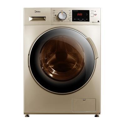 美的(Midea)滾筒洗衣機 洗烘一體 帶烘干 全自動 10公斤大容量金色 MD100V332DG5