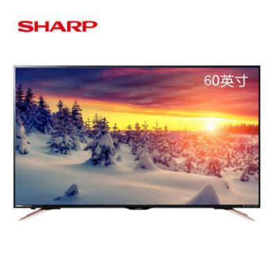 夏普(SHARP) LCD-60SU578A 60英寸日本原裝面板屏4K網絡智能平板液晶電視機 歌手版
