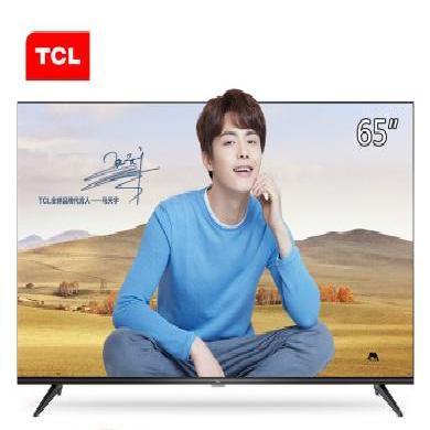 TCL 65L2 65英寸高畫質4K超清HDR智能電視機 豐富影視教育資源 黑色