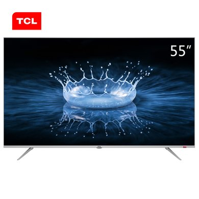 TCL 55A860U 55英寸32核人工智能 超智慧 超薄4K 超高清電視機(銀色)