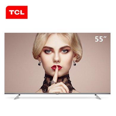 TCL 55A880U 55英寸4K全面屏超薄高清人工智能網絡平板液晶電視機