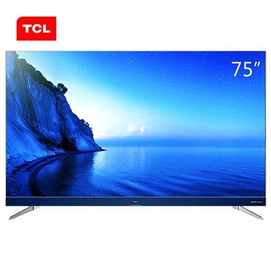 TCL 75A950U 75英寸34核人工智能 纖薄金屬機身HDR4K電視機(銀色)