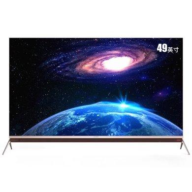 康佳(KONKA) LED49M1 49英寸 4K超高清 HDR智能超薄電視 全民k歌 玫瑰金