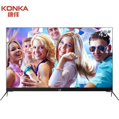 康佳(KONKA)LED43M2S 43英寸平板薄身電視前置音響全民K歌二級能效智能彩電