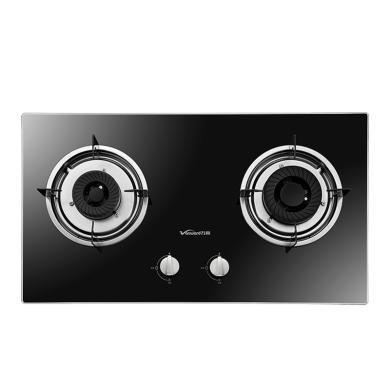 萬和 B8-L12X 燃氣灶具臺式嵌入式兩用燃氣灶雙眼灶具鋼化玻璃面板燃氣灶