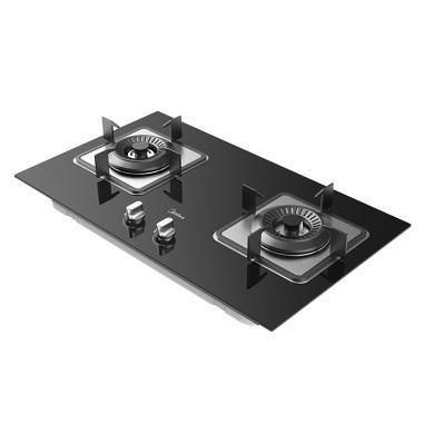 美的(Midea)JZT-Q62 天然氣燃氣灶 一級能效4.5大火力燃氣 灶嵌入式 兩用燃氣 爐具 灶具 鋼化玻璃 雙灶臺