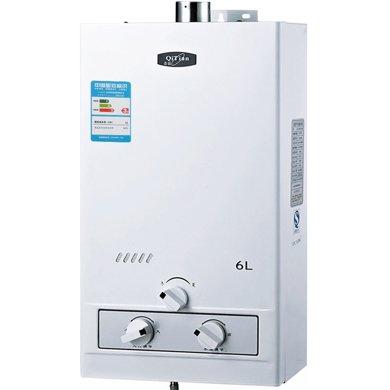 奇田(Qitian)JSQ12-6A銅水箱帶穩壓 6升強排式燃氣熱水器