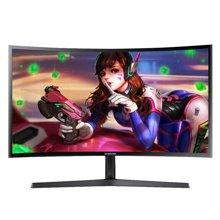 三星(SAMSUNG) C24F396FH 23.5英寸 曲面MVA廣視角高清電腦顯示器