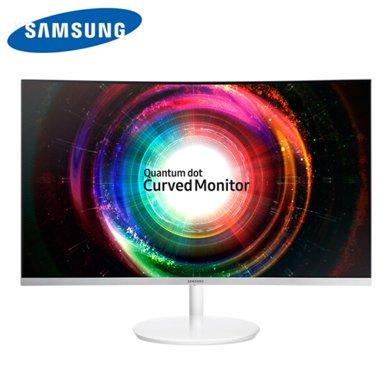 三星(SAMSUNG)C32H711QEC 31.5英寸1800R震撼曲率微邊框2K高分曲面顯示器