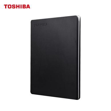 東芝(TOSHIBA) 2TB USB3.0 移動硬盤 Slim系列 2.5英寸 兼容Mac 金屬超薄 密碼保護 輕松備份 高速傳輸
