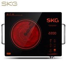 SKG 电陶炉家用电磁炉茶炉不挑锅3环双控1647 黑色