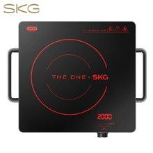 SKG 電陶爐家用電磁爐茶壺爐不挑鍋一鍵操控1648M 紅色