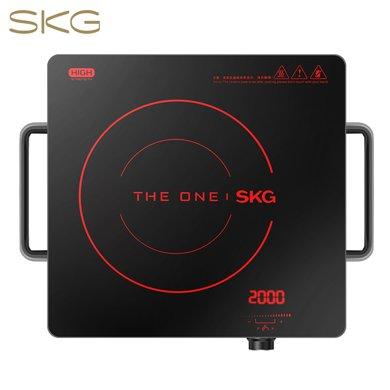 SKG 电陶炉家用电磁炉茶壶炉不挑锅一键操控1648M 红色