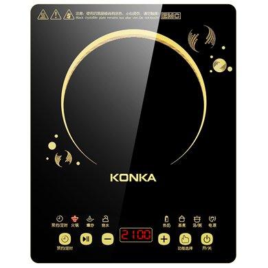 康佳超薄電磁爐KEO-21C289CB 厚度僅4.5厘米,額定功率2100W,觸控黑晶面板