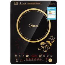 美的(Midea)电磁炉 RT2166 超薄 节能 多功能 定时 定温 预约 10档以上 触控式 陶瓷黑晶面板 送汤锅+炒锅