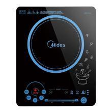 美的(Midea)电磁炉十档大火力面板触控家用电磁炉 C21-RH2133  赠送:汤锅+炒锅
