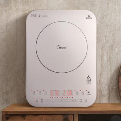 美的(Midea)電磁爐 觸控纖薄恒勻火家用電磁爐炒菜燒水 C21-QH2135 卡其色