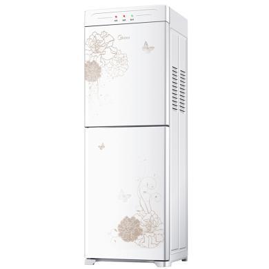 美的(Midea)饮水机 立式家用办公 温热型 双封闭门 防尘大储物柜 饮水器YR1226S-W