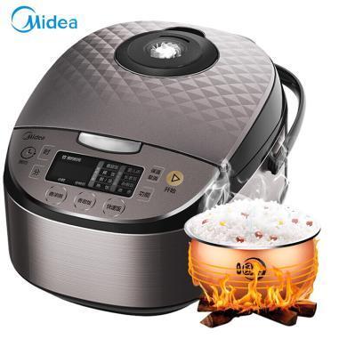 美的(Midea) 電飯煲-RS4057 聚能圓灶釜 渦輪除泡防溢鍋 智能預約 4L電飯鍋