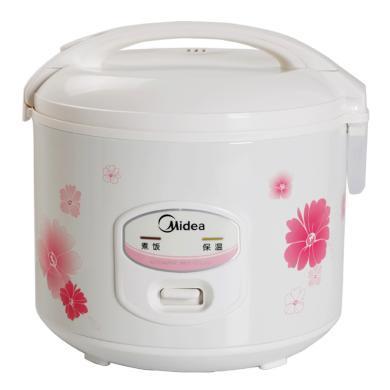 美的(Midea)電飯煲 電飯鍋 3升迷你家用1-2-3人不粘內膽 YJ308J 白色