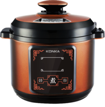 康佳电压力锅KPC-60ZS608 按键操作,额定功率1000W。容量6升。