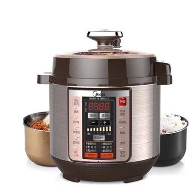美的(Midea)PCS5036P電壓力鍋 一鍋雙膽煮飯 智能家用電高壓鍋飯煲
