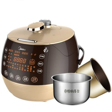 美的(Midea) PSS5068P电压力锅煲手动排气浓香翻滚 电压力锅煲手动排气浓香翻滚