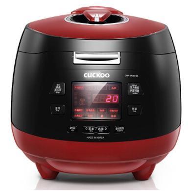 韓國福庫(CUCKOO) 韓國進口 電飯煲 智能預約高壓電飯鍋 CRP-M1001SK 5L-紅黑色