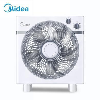美的(Midea)KYT25-15AW 家用迷你風扇 節能可定時 臺式轉頁扇/鴻運扇/小風扇/電風扇 XW