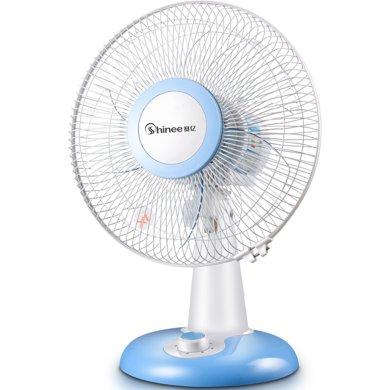 賽億(Shinee) 電風扇家用臺扇機械搖頭電風扇學生宿舍床頭辦公室電腦桌面靜音臺式風扇FT30-7