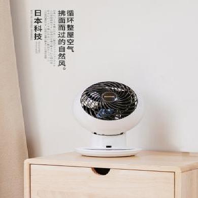 日本愛麗思(IRIS)空氣循環扇迷你電風扇渦輪扇家用靜音臺扇遙控定時搖頭扇 推薦25㎡上下左右搖頭SC15TC