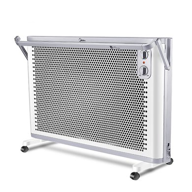美的(Midea) 對衡式 NDK20-18AW 黑晶發熱體 360度防水濺 掛立兩用 取暖器