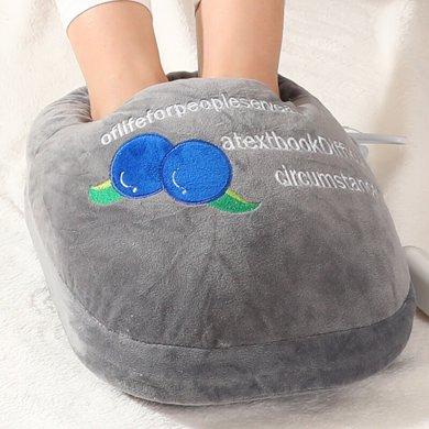 赛亿(Shinee)可拆式充电暖脚器暖脚宝暖脚王电暖宝取暖器家用恒温暖脚炉NJ701-蓝莓灰