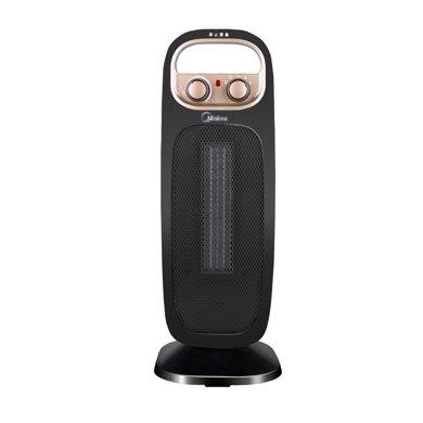 美的(Midea) 家用塔式取暖器暗光速热电暖器可摇头 NTH20-15B 黑色